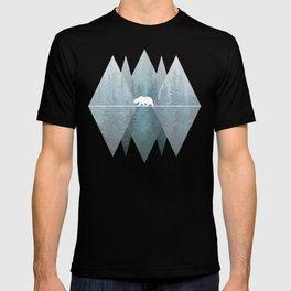 Misty Forest Mountain Bear T-shirt