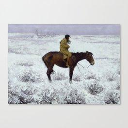 "Frederic Remington Western Art ""The Herd Boy"" Canvas Print"