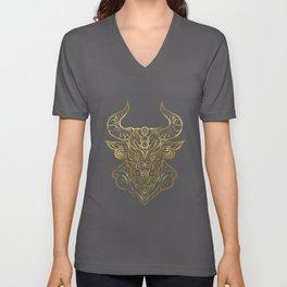 Taurus Gold Unisex V-Neck