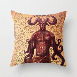 BabYlonian Demon Anatomy Throw Pillow