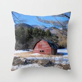Deserted Barn in the Adirondacks Throw Pillow