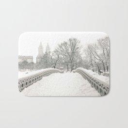 Winter Snow in New York City Bath Mat