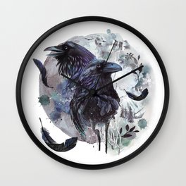Full Moon Fever Dreams Of Velvet Ravens Wall Clock