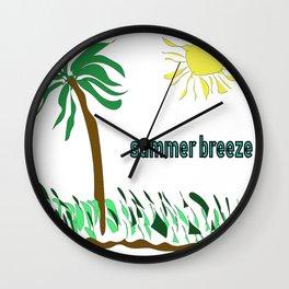 summer breeze minimal sketch Wall Clock
