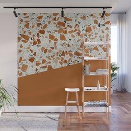 Terrazzo Texture Antique Mustard #3 Wall Mural