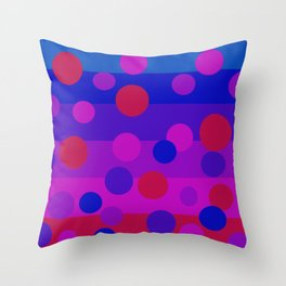 Sweet Berry Pie with Floating Circles Throw Pillow