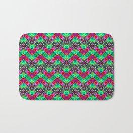 Stitched Vibrant Zigzags Bath Mat
