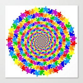 A spyral puzzle Canvas Print