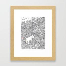 Ball Terrier Framed Art Print