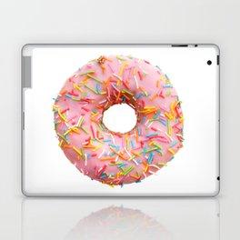Single pink donut Laptop & iPad Skin