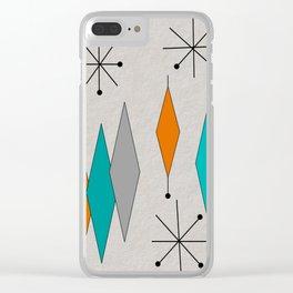 Mid-Century Modern Diamond Pattern Clear iPhone Case
