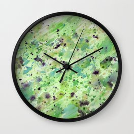 Toxic speckle Wall Clock