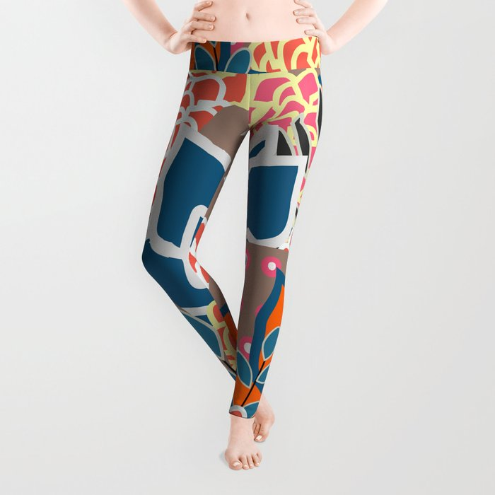 Succulents crowd Leggings