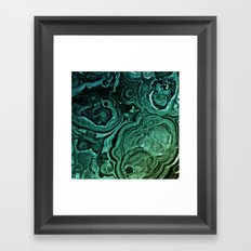 MALACHITE GREEN Framed Art Print