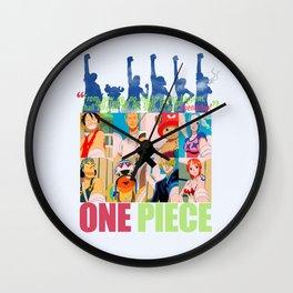 Mask of friendship Wall Clock