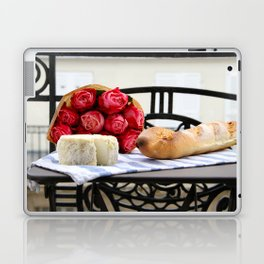 French Baguette and Cheese on a Paris Balcony Laptop & iPad Skin