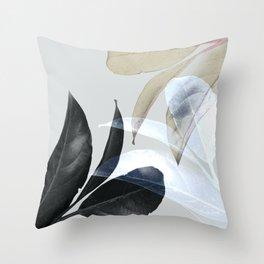 Moody Leaves II Throw Pillow