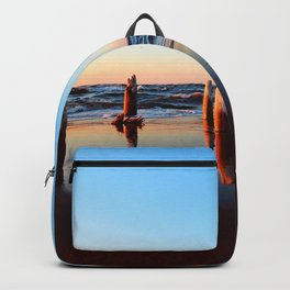 Reflected Remains on the Beach Backpack