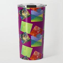 Painted Squares Jiggle - Plum Travel Mug