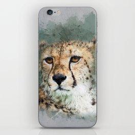 Abstract Cheetah iPhone Skin