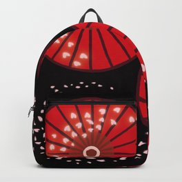 "SAKURA ""Japanese umbrellas and cherry blossoms"" Backpack"