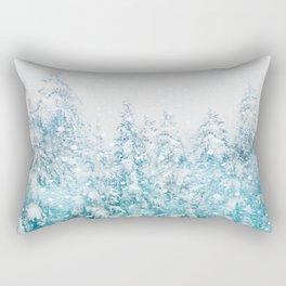 Snowy Pines Rectangular Pillow