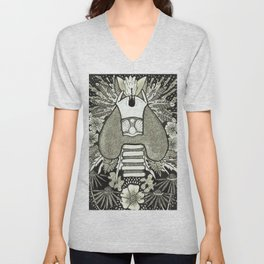 The Anatomical Thyroid- Organs and Herbs series Unisex V-Neck