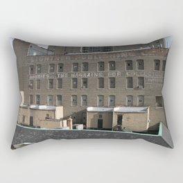 Chicago Skyline, Chicago Architecture, Old Advertising Rectangular Pillow