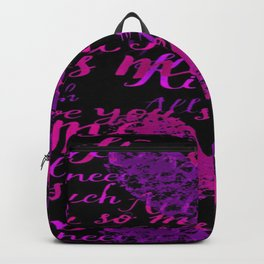 Kiss Me, Miss Me Purple Backpack
