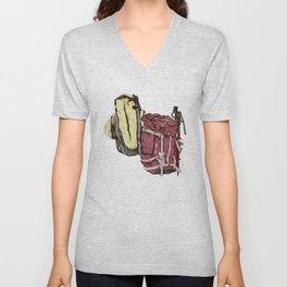Backpack Adventures Unisex V-Neck