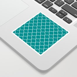 Quatrefoil - Teal Sticker