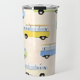 Summer surf bus pattern Travel Mug