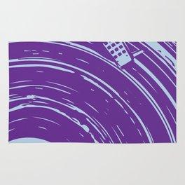 vinyl purple Rug