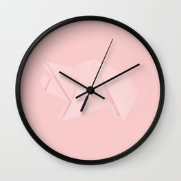 White origami pig Wall Clock