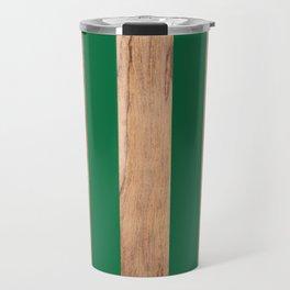 Wood Grain Stripes - Green #319 Travel Mug