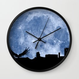 Tribute to the first flying man (Diego Marín Aguilera) in history Wall Clock