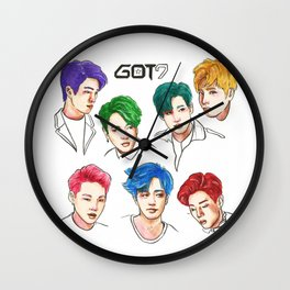 GOT7 Colourful Wall Clock