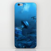 submarine iPhone & iPod Skins featuring Submarine by Misko Stanisic