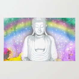 Buddha and Rainbow Rug