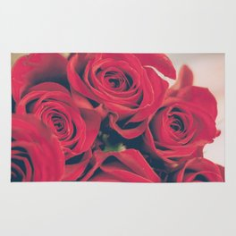 Bundle of Red Roses Rug
