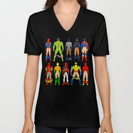 Superhero Butts Unisex V-Neck