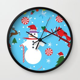 Xmas Epic Pattern Wall Clock