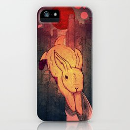 Rabbit in Town iPhone Case