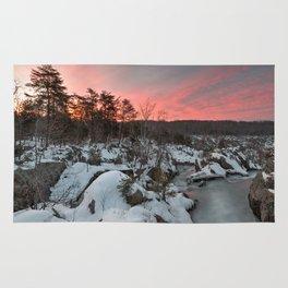 Great Falls Winter Twilight Rug