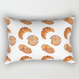 French pastries - croissant, chocolate, rasin Rectangular Pillow