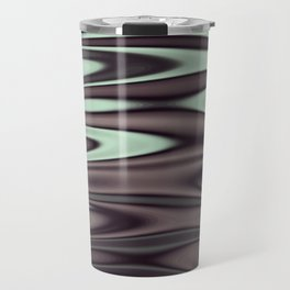 Ripples Fractal in Mint Hot Chocolate Travel Mug