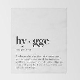 Hygge Definition Throw Blanket