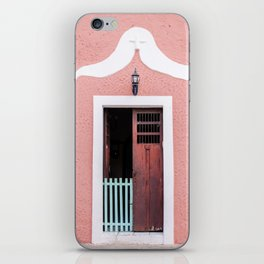 Pink House in Mexico iPhone Skin