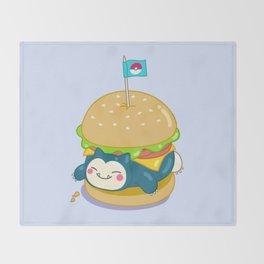 Snorlax Burger Throw Blanket