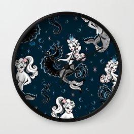 Pearla the Mermaid Riding on a Seahorse Wall Clock